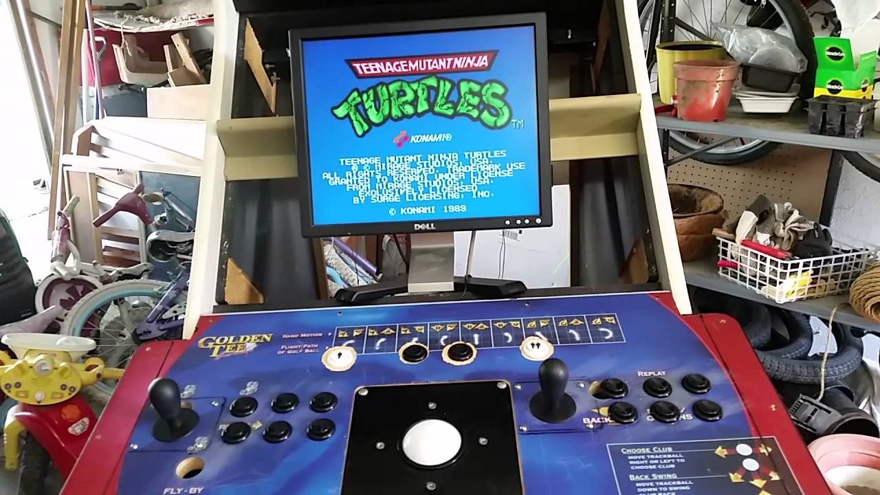 Golden Tee Cabinet Dry Fit Of Golden Tee Golf Mame Conversion Arcade Machine Youtube