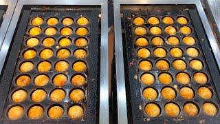 japanese street food - amazing TAKOYAKI machine