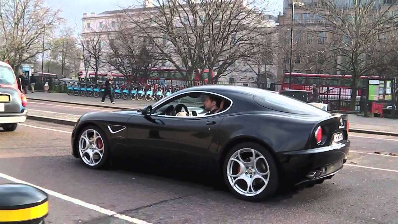 Alfa Romeo 8C Rev & Interior Shot