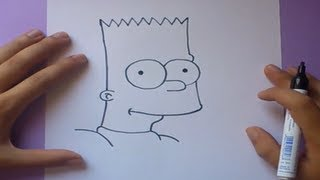Como dibujar a Bart simpson paso a paso 3 - Los Simpsons | How to draw Bart simpson 3 - The Simpsons