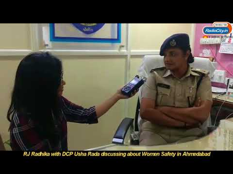 RJ Radhika with DCP Usha Rada discussing about Women Safety in Ahmedabad