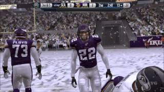 Madden NFL 16 - Wild Card Weekend - Seattle Seahawks vs Minnesota Vikings Gameplay (XboxONE HD)