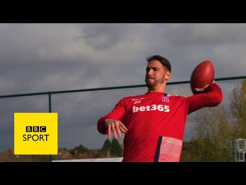 NFL's Osi takes on Stoke's Cameron and Arnautovic - BBC Sport