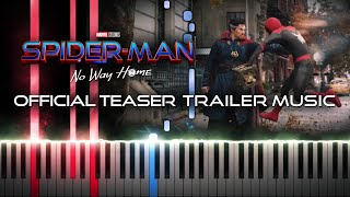 SPIDER-MAN: NO WAY HOME - Official Teaser Trailer Music (Synthesia Piano Tutorial)+SHEETS