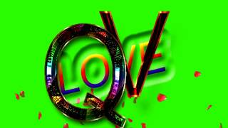 Q Love V Letter Green Screen For WhatsApp Status | Q & V Love,Effects chroma key Animated Video