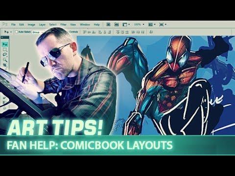 Art Tips: Fan Help - Comicbook Layouts