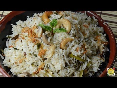 Mushroom Mint Pulao  - By Vahchef @ vahrehvah.com