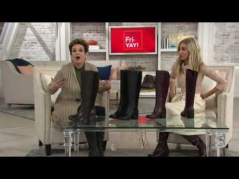 Marc Fisher Medium Or Wide Calf Leather Tall Shaft Boots - Riyea On QVC
