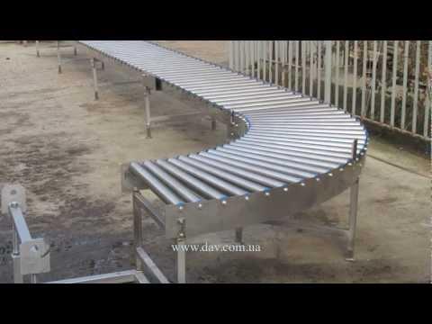 видео: Роликовый транспортер, рольганг