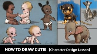 How to Draw CUTE!  (Character Design Course Sneak PEEK)