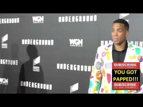 DeWanda Wise And Alano Miller At The WGN America's Underground World Premiere At Ace Hotel In Los An