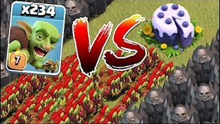 """ALL YOU CAN EAT!! ROUND 2 """"Clash Of Clans"""" CAKE MAZE BASE!!"""