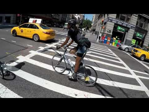 NYC Cycling 59th Street to Grand Street via 5th Avenue and Thompson Street