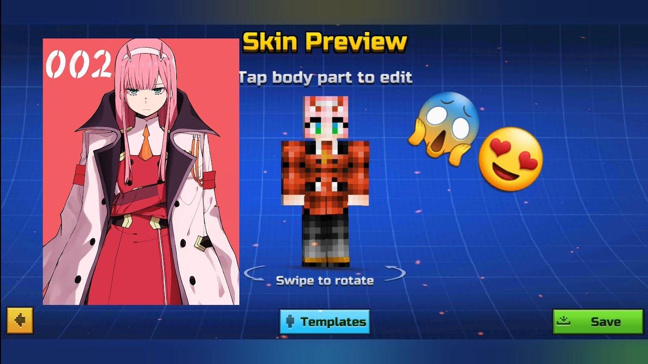 Pixel Gun 9D  Zero Two Skin ╰‿╯ - YouTube