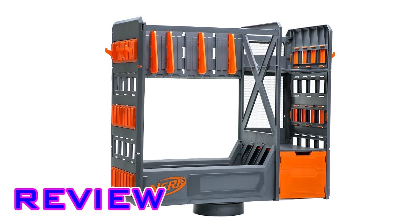 Review Nerf Blaster Rack Worth 50 Youtube