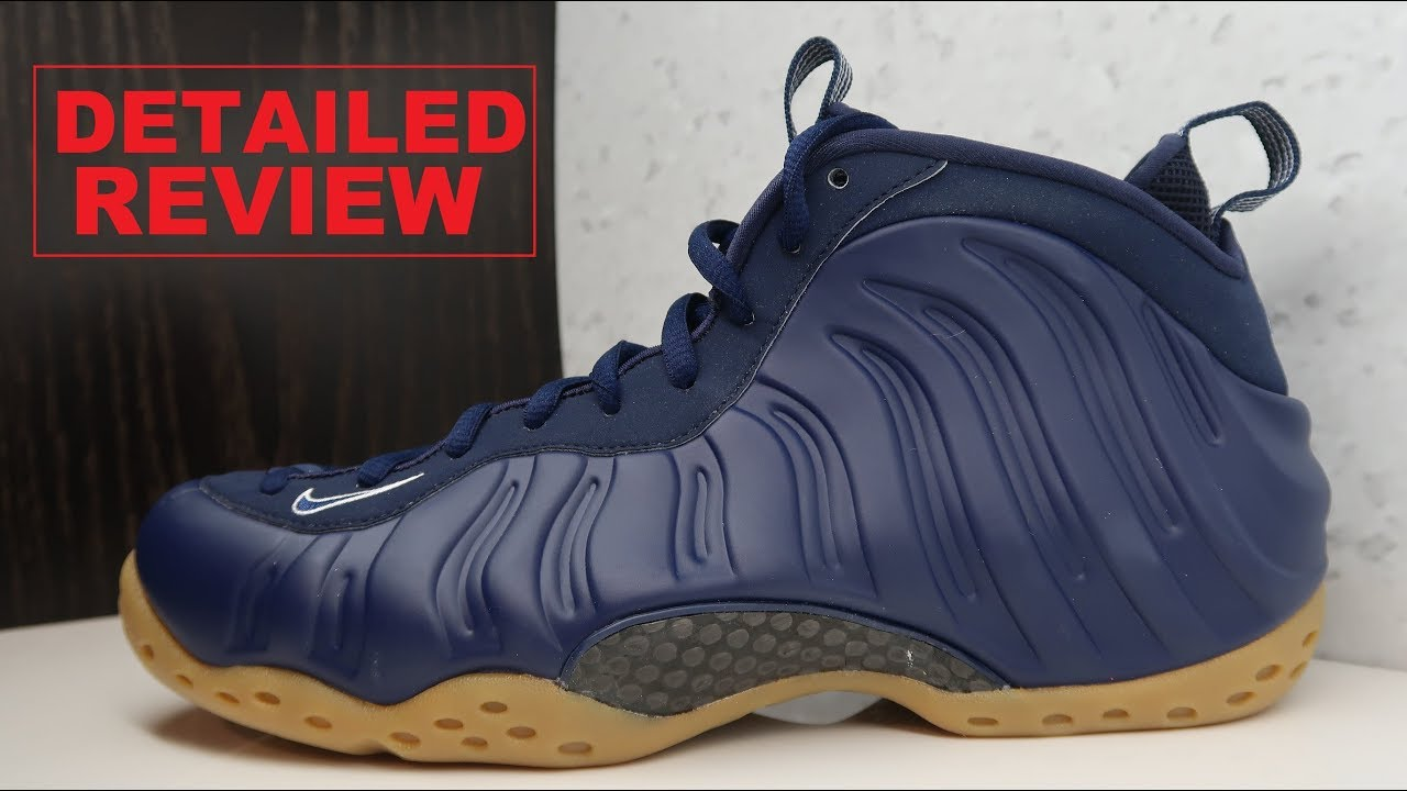 buy online 6a738 d35cf Nike Air Foamposite One Navy Gum Bottom Sneaker Detailed Honest Review