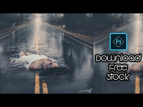 Girl Swimming On Road | Manipulation Photoshop | Photoshop CC Tutorial