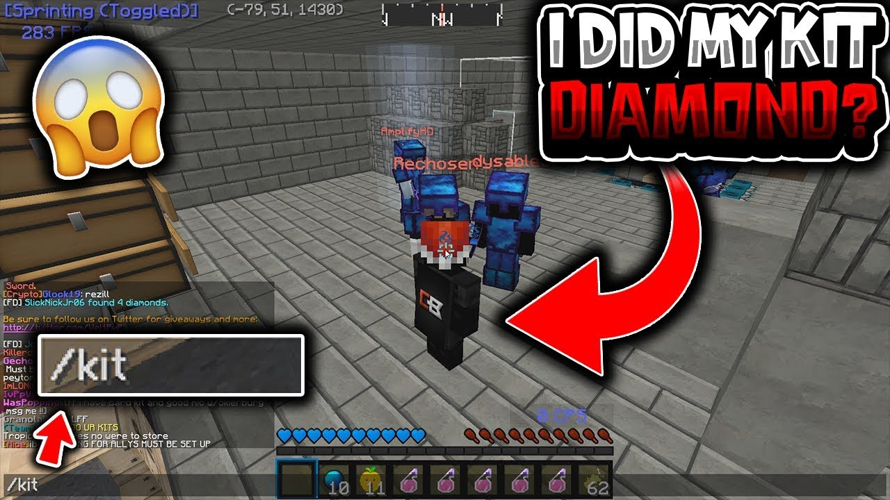 I DID MY KIT DIAMOND AFTER FANS LET ME INTO THEIR BASE!! (THEY FREAKED OUT)  - VeltPvP [4]