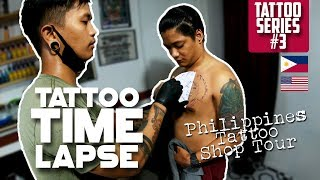 Philippines Tattoo Shop Tour:  Mark Aries Mesiano Garcia- Time Lapse