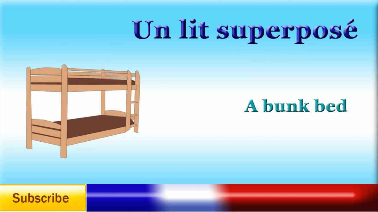 french lesson 36 learn french bedroom furniture and beddings vocabulary youtube - Name Of Bedroom Furniture