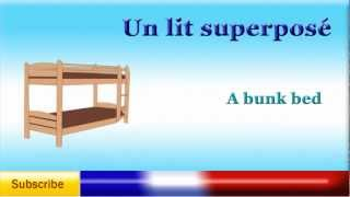 French Lesson 36 - Learn French Bedroom Furniture And Beddings Vocabulary