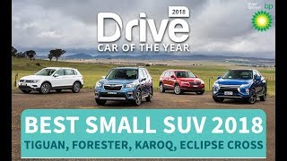 Best Small SUV Of 2018, Tiguan, Forester, Karoq, Eclipse Cross