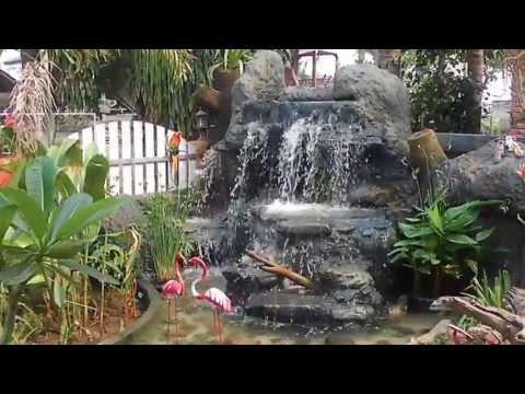 น้ำตกหินเทียม+หินจริงทำเอง ฝีมือลูกน้อง อ.ประเวศ ไชยวงศ์