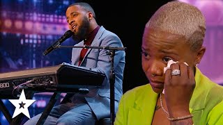 Singer Ray Singleton Sings For His Recovering Wife on America's Got Talent 2021 | Got Talent Global