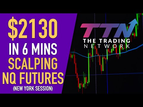 LIVE SCALPING – NQ (NASDAQ) FUTURES – $2130 in 6 Minutes