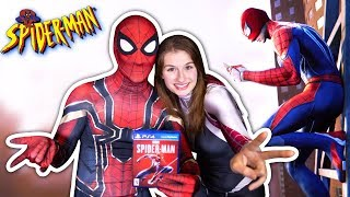 Spider Man Ps4 Game Takes Over Gamestop Ft. Spiderverse Spider Gwen & Iron Spider