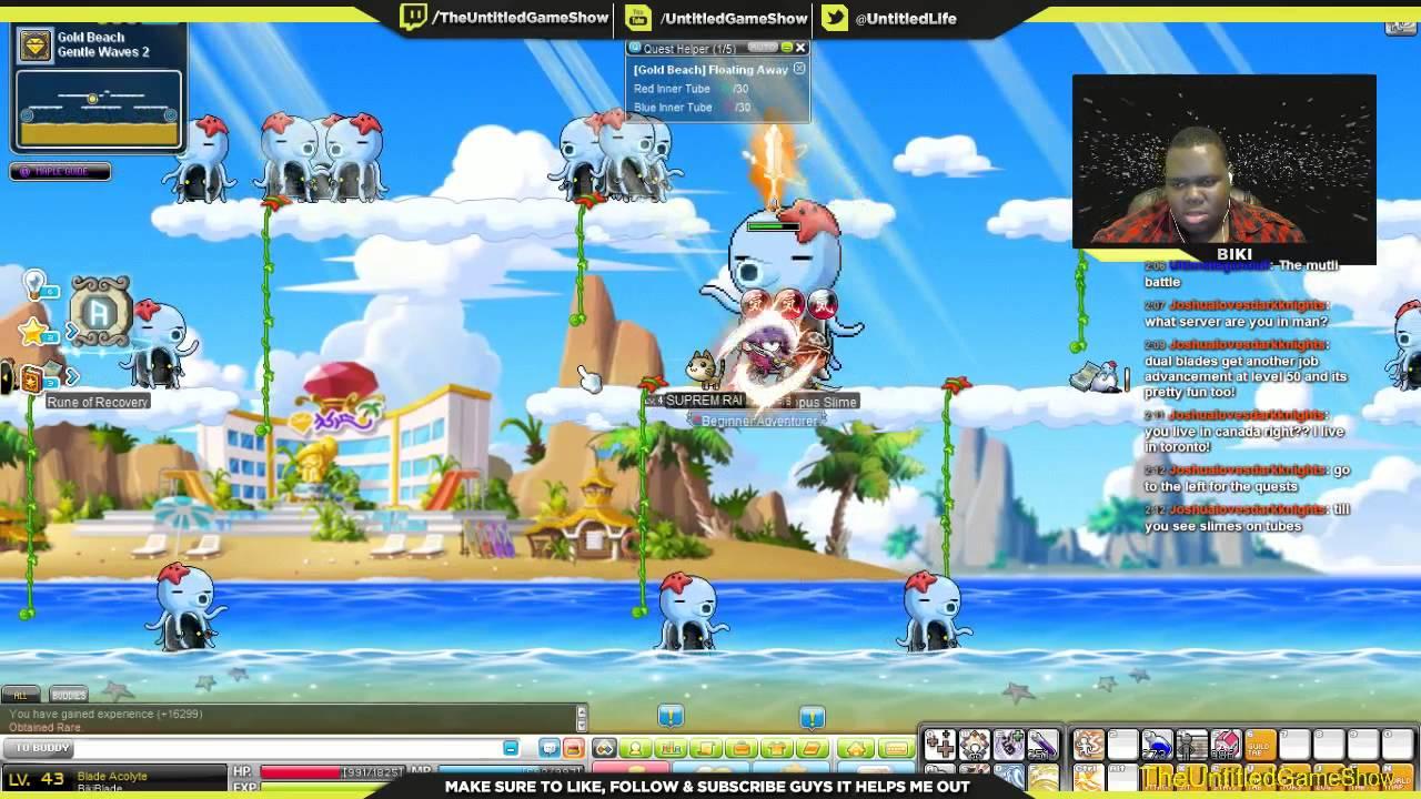 Biki's Nostalgic Maplestory Fun Elite Monster Powerful Starfish Octopus Slime Mini Boss