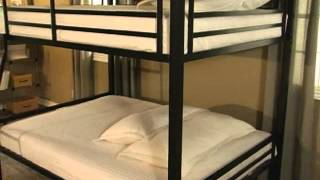 Duro Hanley Full Over Full Bunk Bed Black - Product Review Video