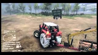 обзор трактора ursus в игре spin tires