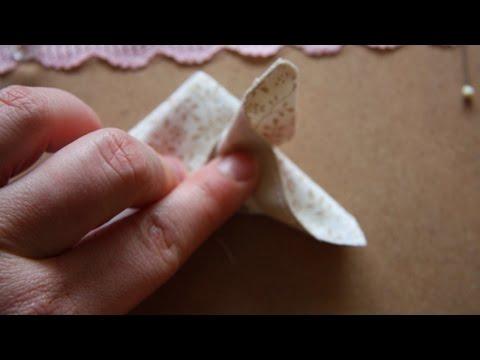 Текстильные бабочки своими руками