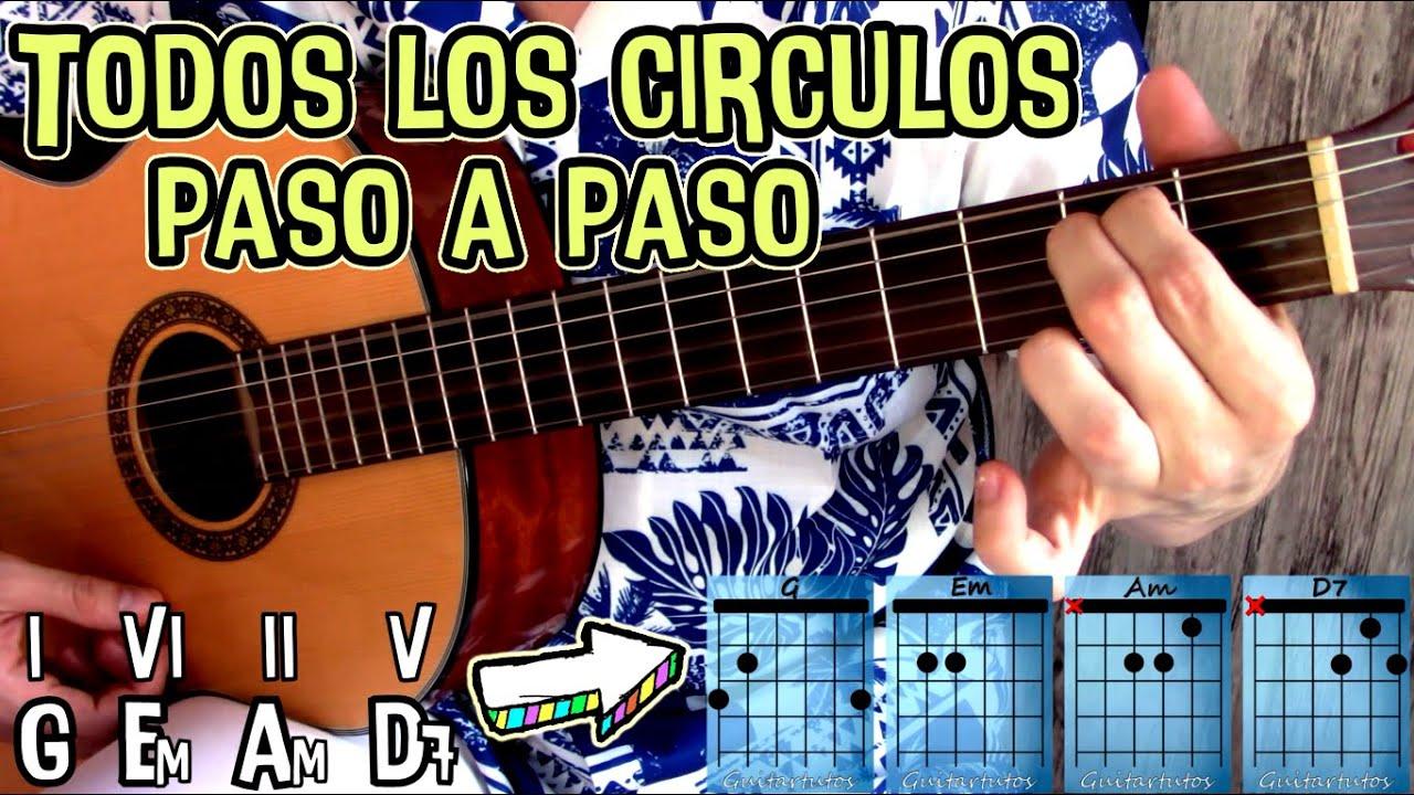 Todos los círculos mayores en guitarra - Explicación todo en uno *CON Menú interactivo -