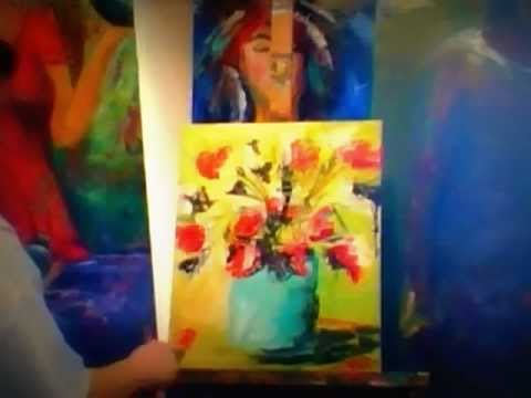 How to paint abstract flowers