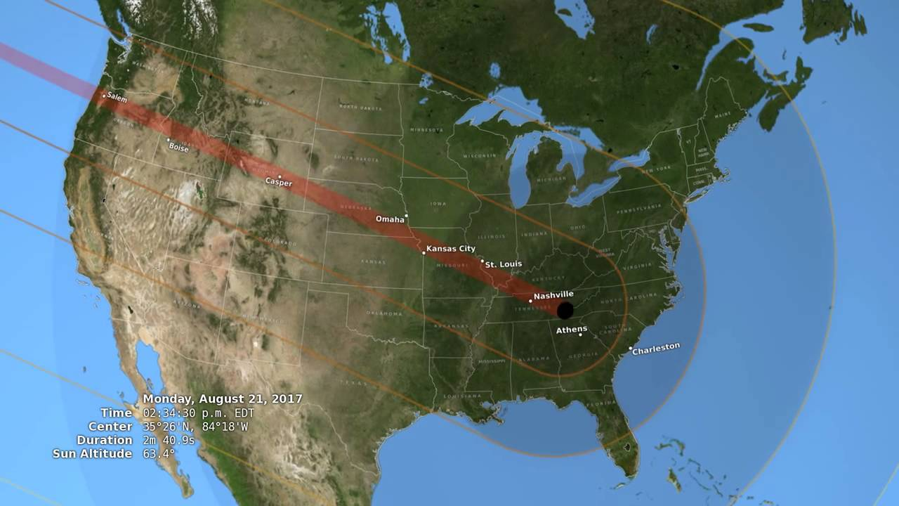 2017 Total Solar Eclipse in the U.S.