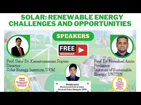 SOLAR: RENEWABLE ENERGY CHALLENGES AND OPPORTUNITIES