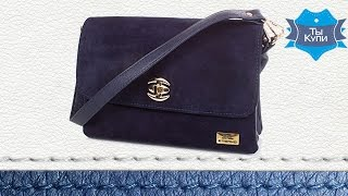 ef06f05c48a4 Видео обзор женской сумки ETERNO из натуральной замши и качественного  кожзама