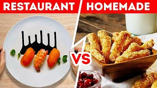 HOMEMADE FOOD VS RESTAURANT FOOD || Delicious Ideas to Cook Like a Chef