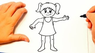 Cómo dibujar una Niña paso a paso | Dibujo fácil de Niña