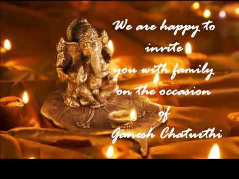 Invitations For Ganesh Puja Youtube