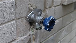 How to replace garden faucet / outside spigot