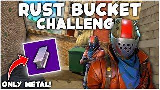 The RUST BUCKET CHALLENGE in FORTNITE!
