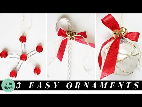 3 EASY Christmas Ornaments Made from Dollar Tree Supplies