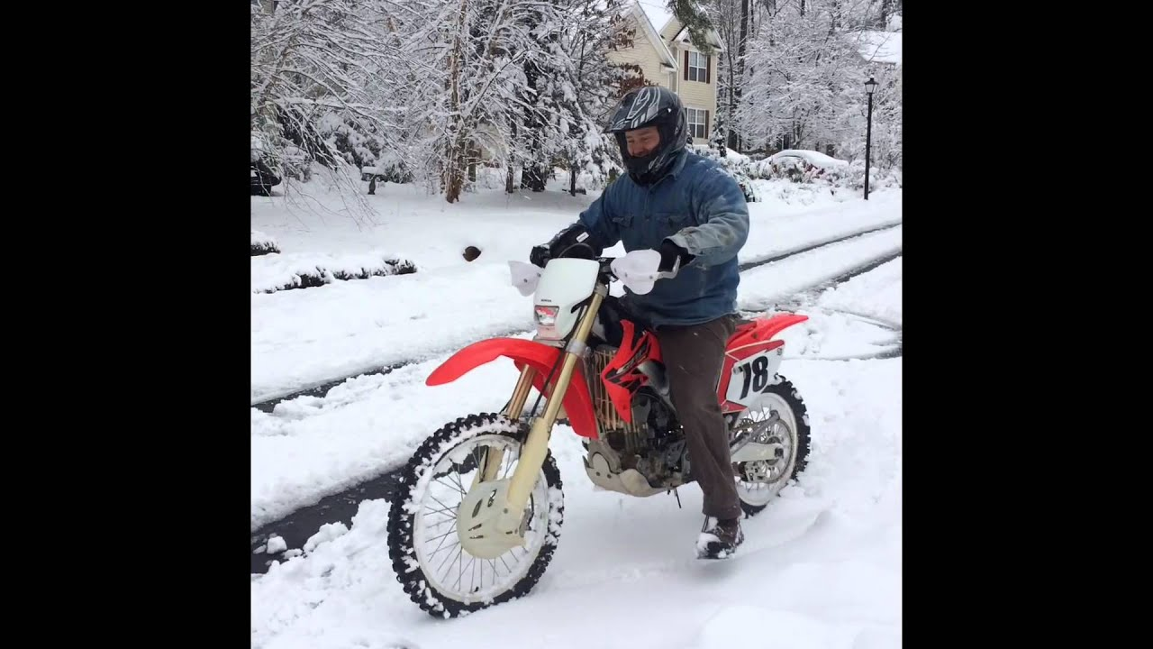 Remix Honda Dirt Bike Crf 250 X Riding In Snow Daddys Gas Youtube Pink