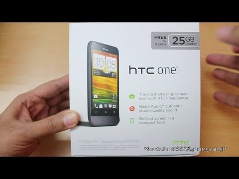 HTC One V Unboxing and first looks