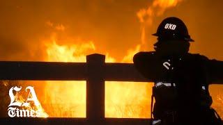 Maria Fire erupts in Ventura County Thursday evening
