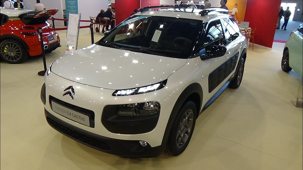 2018 citroen c4 cactus puretech 82 shine exterior and interior salon automobile lyon 2017. Black Bedroom Furniture Sets. Home Design Ideas