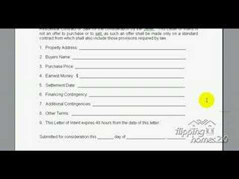 Real Estate Investing Guide - Wholeslaing Letter Of Intent - Youtube
